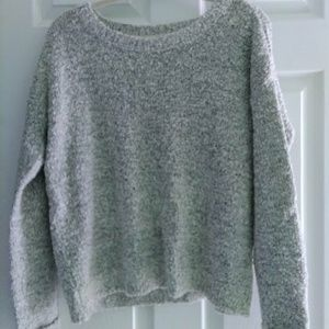Marbled cropped sweater